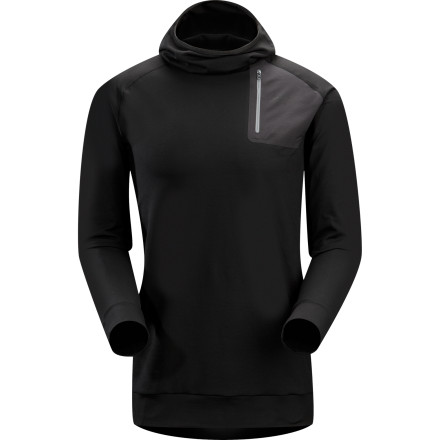 The Arc'teryx Men's Stryka Hoodie hugs your body close while you ascend a skin track, drop into a new trail, or backpack through crisp fall weather. Fluid in fit and detailed right down to the balaclava-style hood, this midweight hoodie fills in the gap in your layers between your thin next-to-skin layer and that heavyweight insulating layer you reach for when truly frigid weather rolls in. - $124.95
