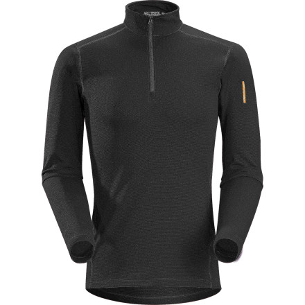 When the thermometer drops outside and you know you'll be both chilled and working up a sweat outside, slip on Arc'teryx's warmest weight baselayer top'the Men's Phase SV Zip-Neck Top. While this top warms your core, a quarter-zip opening allows you to vent away heat at your chest and soft Phasic fabric aids temperature regulation at the underarms. - $84.95