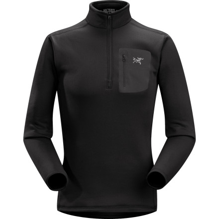 Ski Ditch your old, heavy midweight layers and reach for the warm Men's Rho AR Zip-Neck Top. Arc'teryx used Polartec's Power Stretch fabric in order to give you all the warmth you need from a cold-weather layer and all the flexibility required for alpine climbing, trail running, or backcountry skiing. - $138.95