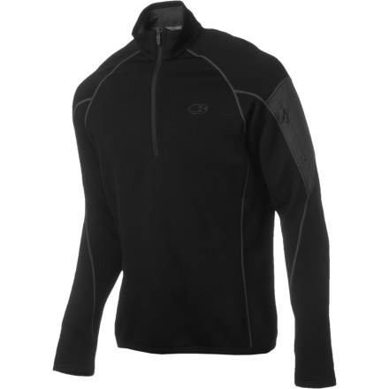 Zip up the Icebreaker RealFleece 260 Sierra 1/2-Zip Pullover and head out for a fall afternoon on the trail. Made with Icebreaker's proprietary RealFleece merino wool, this pullover won't itch or scratch like conventional wool. Wear it as a layer or wear it solo, thanks to a versatile design and profile. Since merino wool also naturally fights odor, you can wear it time and again without worry of offending your fellow adventurers. - $82.47