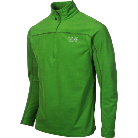 The cold is coming, but with the Mountain Hardwear Microchill Fleece Zip T Pullover, you'll be fully prepared for outdoor pursuits. Wind stays out thanks to a high-cut collar, while you stay in control of your body temp with a deep zip for ventilation. Don't worry about this top chafing under a shell; the Microchill features flatlock construction. - $30.22