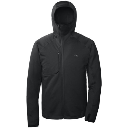 Don't let the frigid air get the best of you, put on the Outdoor Research Men's Radiant Hybrid Hooded Top. Made with heavyweight Radiant Hybrid fleece fabric, this breathable hoody helps keep you super warm in freezing temperatures. - $109.95