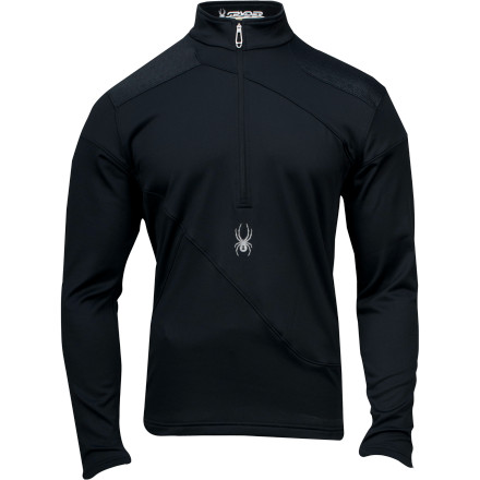 Put the Spyder Orion Zip-Neck Top when you want extra warmth and something to wick moisture when you're mixing aerobic activity and freezing temps. This pullover also rocks a street-savvy style thanks to its clean-cut lines and panel blocking so you can wear it around town without feeling underdressed. - $89.96