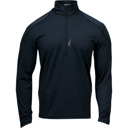 Camp and Hike On those mornings when the temps are hovering in the single digits, better layer up in the Spyder Charger Therma Stretch Zip-Neck Top. Made from cozy, stretchy fleece, this heavyweight top provides all-day warmth and comfort on days when the chill keeps most people indoors. A zip-neck collar gives you the option of opening it up to dump heat in a hurry after a hike to the ridge. - $59.47