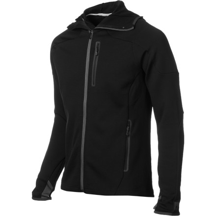 Once winter creeps into the mountains to stay, the SmartWool PhD HyFi Full-Zip Hoodie serves as a dynamic mid-layer for your days at the resort or frigid mornings on the skin track. The heavyweight merino wool fabric insulates your core without trapping moisture during demanding runs or climbs. Once the morning warms up, the full front zipper allows extra venting so you can keep your mountain mojo working. - $136.47