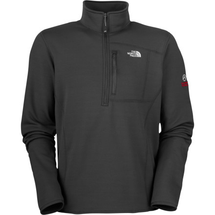 Slip into something a little more comfortable with The North Face's Flux Power Stretch 1/4-Zip Fleece Pullover. The recipe for this fleece pullover includes a heavy dose of the highly versatile Polartec Power Stretch fabric, which provides stretch, breathability, and warmth with minimal weight. The fleece's exterior is durable, rugged, and wind resistant, while the interior offers the classically soft and comfortable feel of fleece fuzz. - $77.97