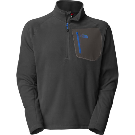 Camp and Hike Cool fall mornings can be extra chilly when you wake up in a giant pine's shadow, but then you can just slip on The North Face TKA 100 Trinity Alps 1/4-Zip Top and cook your camp breakfast. This mid-weight fleece pullover adds an extra layer of warmth while camping, backpacking, or skiing in those famous California mountains or anywhere else you find yourself in the fall. - $64.95
