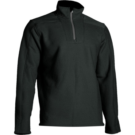 Fitness The relaxed-fit Under Armour Hundo Mountain Fleece gives you plenty of room to move, whether you're out bogarting freshies or pulling down dry branches for a campfire. A soft, moisture-wicking interior keeps him dry, and a durable, textured exterior traps warmth and resists wear and tear. Under Armour constructed this pullover with flatlock seams that wont chafe. - $47.97