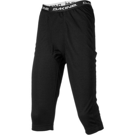 Surf The right amount of clothing really makes a difference as you hurl yourself down a mountain in frigid temperatures. The midweight DAKINE Talon 3/4 Bottom surpasses the standard baselayers with its quick-drying, odor fighting fabric and high-ankle design that doesn't overlap your socks and bunch up under your boots. - $34.95