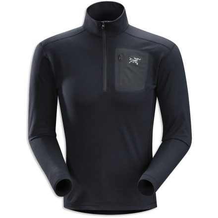 Camp and Hike Start your base layers off right with the Arc'teryx Men's Rho LT Zip Top. The Rentex Powerflex fabric ensures plenty of warmth, next-to-skin comfort, and all the freedom of movement you need for skiing, climbing, or hiking. Arc'tery added a laminated chest pocket and underarm no-lift gussets to set this top apart from all the other shirts out there. There's no question which one to pick when you dig into your drawer for something to wear in the mountains. - $83.27