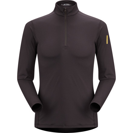 Don't get phased by the cold. Just pull on your Arc'teryx Phase AR Zip Neck Top. - $78.95