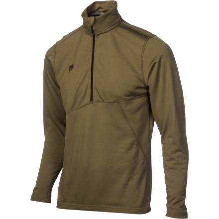 Keep wearing cotton if you enjoy being soaking wet and freezing every time you ride. Otherwise, grab the Homeschool Art Hag Men's Mock Neck Top. The Cocona-infused terry fleece is soft and comfy, wicks moisture away from your skin to keep you warm, and dries quickly to help you stay that way. - $39.98