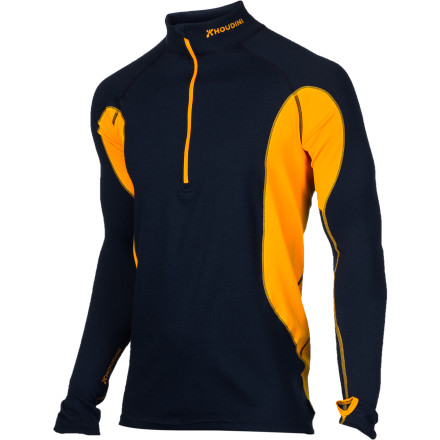 Houdini made the Men's Alpha Zip Baselayer Top from recycled fibers, so it goes easy on the earth. The Alpha Zip wicks sweat, and it insulates just the right amount so you stay comfortable while exerting in winter conditions. - $74.97