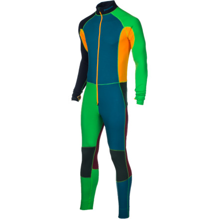 Ski Houdini designed the Men's Chad One-Piece Suit with recycled (and recyclable) Eco Circle Alpha and Delta synthetic fabrics. Its one-piece fit provides a solid layer of warmth under your ski clothes, with warmer Delta panels where you need a bit of extra insulation and lighter material where you want more breathability. - $167.97