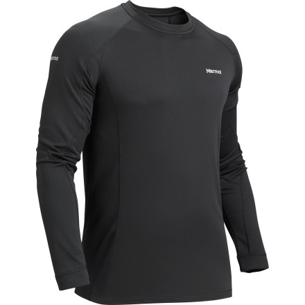 Fitness The Marmot Midweight Crew has a bit of stretch built into the Polartec Power Dry fabric for extra mobility and Cocona technology to prevent odors from accumulating in the fabric over time. - $32.97