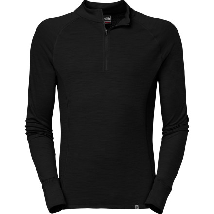 The North Face Summit Series Warm Merino Zip-Neck Long-Sleeve Top offers midweight protection from the cold so you'll feel great whether you're enjoying sunny groomers or working your way through the wind at high altitude. Wear this high-tech top against your skin, and let it deal with the cold and your sweat. - $89.95