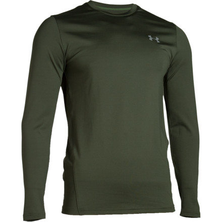 Fitness The Under Armour Evo ColdGear Fitted Crew has a thousand uses. Those on the fun side include ski mountaineering, climbing, and cold-weather triathlon training, but you can also wear this silky soft baselayer while doing chores or sleeping. ColdGear fabric wicks moisture away from your skin, and flatlock seams won\t chafe. Odor-neutralizing ArmourBlock technology prevents nose-wrinkling when you de-jacket. - $34.96