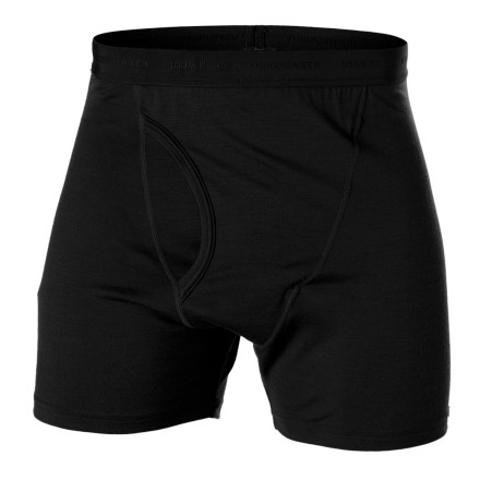 Wool boxer shorts' You better believe it. The Icebreaker Men's BodyFit200 Boxer With Fly gives you all the benefits of merino wool minus the itch. With its 200g-merino wool, these boxers resist odor, breathe like no other, and are so lightweight you'll hardly notice you're wearing them. The Men's Boxer With Fly has a soft elastic waistband and a gusseted crotch for comfort. Icebreaker eliminated the back and side seams to cut down on chafing, which makes these boxers great for workouts, the trail, or everyday. - $22.48