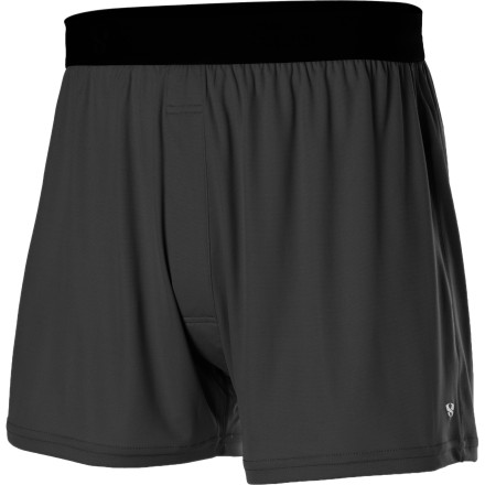 Camp and Hike For discerning men who abhor being fenced in, the Stoic Mens Breathe 90 Boxer has the tools, technology, and room to keep your boys cool, comfortable, and cheery. Like its name implies, this underwear breathes exceptionally well, and its boxer cut allows plenty of freedom to roam or hang loose. Whether you use it for a backpacking trip, a winter tour, or overseas travel, Stoics lightweight Breathe 90 fabric combines non-chafing, moisture-managing performance with an ergonomic fit that stays in place no matter how hard you like to play. - $14.00