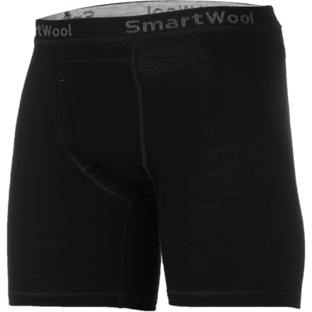 Entertainment The SmartWool Microweight Boxer Brief harnesses the power of merino wool to give you extreme comfort even when you're training hard. Forget about bunching, soggy cotton briefsthese technical underwear use nature's best and mankind's smartest to keep you feeling good on the trail. - $47.95