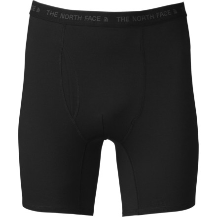 Cold and clammy are two adjectives that you never want used to describe anything below your belt line. The North Face Light Boxer Briefs quickly wick moisture from your skin and then dry quickly so the sweat you work up skinning up the hill doesn't leave you chilled and damp. - $34.95