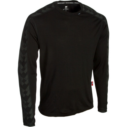 No one enjoys being cooped up inside, so change out of your tee and into the Dale of Norway Mens Long Sleeve Top and conquer that mountain youve had your eye on . Made from 100percent merino wool fabric, this slim-fit shirt breathes well and wicks moisture away so you stay comfortable and dry throughout your adventures. - $57.82