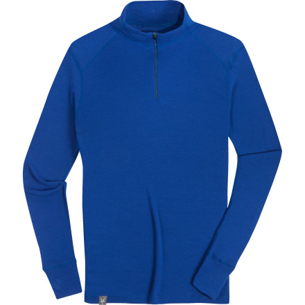Ski Zip up the Ibex Men's Woolies Zip T-Neck to tackle the steep and deep and then keep it on for that aprs ski party with friends. When you skin up on your next ski tour, the New Zealand merino wool pulls moisture from your skin and distributes it to the surface of the fabric so it can evaporate faster. Plus, wool has natural antimicrobial properties so you won't stink at that party. Flatlock seams in this mid-layer ensure you stay chafe-free, and you can throw this in the wash no problem. - $84.95