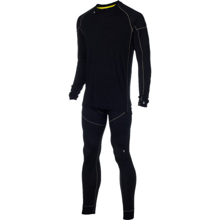 Make the Stoic Men's Alpine Merino 150 Set the first layer you reach for on a cold winter morning. By utilizing a mix of soft, naturally breathable merino wool and durable synthetic, this top and bottom layer set represents a step up from your all-synthetic performance layers of the past. You get all the temperature and moisture regulation you need, but in a slightly more luxurious package designed specifically for winter pursuits in the outdoors. - $89.40