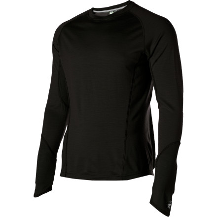 Throw on the Smartwool Men's NTS Lightweight Crew before you head out to get your sweat on. Merino wool fabric rides comfortably, pulls moisture from your skin, and breathes easily, while the sculpted side panel eliminates the side seam to reduce chafing and enhance the fit. - $37.48