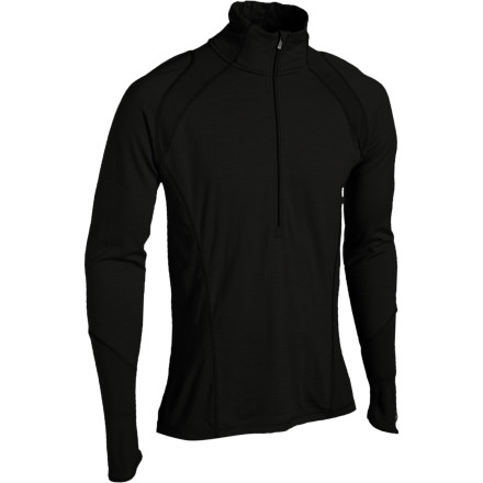 The Smartwool Mens LightweightZip Top is like the caped crusader of the baselayer worldat any time, and in any conditions, its ready to wick moisture, dry in a flash, and naturally fight odors thanks to its soft, stretchy merino wool construction. Flatlock seams give it next-to-skin comfort and the front zip aids in venting when you overheat. - $84.95