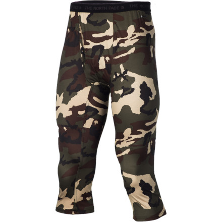 Ski The North Face Skull Horn Camo Boot Top Bottom is cut slightly shorter than standard long underwear so it won't interfere with your boots while you ski, snowboard, or tour. The camo pattern keeps deer from spotting you and trying to mate with you when you crawl out of your tent to take a whiz. - $32.47