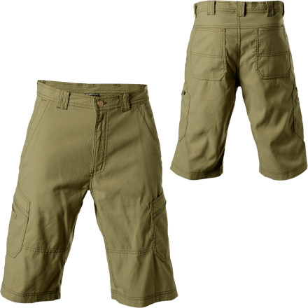 Climbing Boy is your new gal in for a surprise when she gets a load of you in the ExOfficio Men's Roughian Cargo Skim'r Short. She thinks you've never been camping before. This super-durable short with water- and stain-resistant properties lets her know you were only messing with her when you said you've never ventured in the woods before. The Roughian's plethora of pockets also hold all of your small essentials, such as compass, map, multi-tool, and snacks. - $39.98