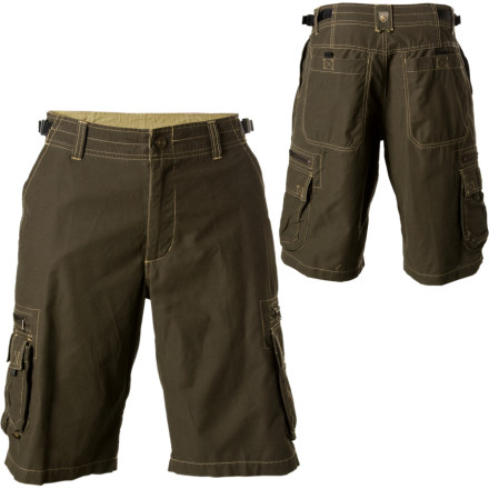 Climbing With tons of pocket storage and mesh ventilation, the Kuhl Mens Z Cargo Short might be the ultimate summertime hiking short. The functional blend of cotton and nylon gives you a balance between a comfortable feel and quick-drying performance. Kuhl also added a Sidewinder adjustable waist to let you dial in the perfect fit. - $64.95