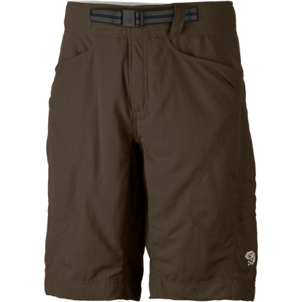 MTB Lined with micro-chamois softness and armed with a backpack friendly conical waist, the Mountain Hardwear Mens Matterhorn Shorts are ready to take on whatever adventure you are. A DWR finish sheds moisture so you dont have to muck around in swampy trousers and a UPF rating of 50 keeps the nasty Sun at bay through shadeless sections of trail. Mountain Hardwear designers integrated a belt into the waist for easy adjustment and to ensure you dont have to suffer mile after mile due to a clunky full-wrap belt. - $33.98