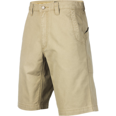 Climbing Some people wonder why hiking shorts need to be so durable. For those who know the answer, there's the Mountain Khakis Men's Alpine Utility Shorts. These burly shorts are made with super-durable 10.4oz cotton canvas and use triple stitching in all the seams to reduce the chances of a blowout. Alpine Utility Shorts also have a long 11in inseam to make them comfortable while wearing a climbing harness, and their gusseted crotch increases freedom of movement on the trail or the rock. - $54.95