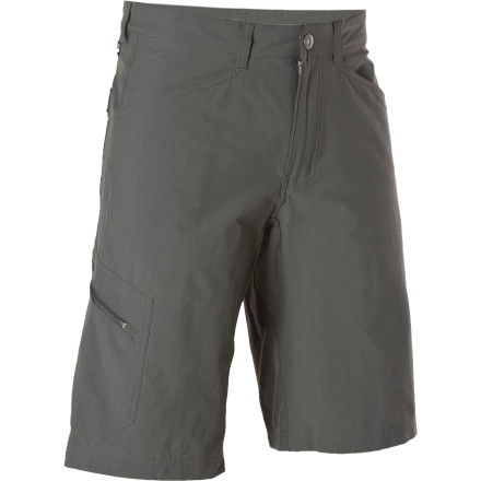 Climbing The Patagonia Men's Rock Craft Short has a serious addiction to rock climbing and spending time in the great outdoors. Its stretchy, lightweight fabric makes it easy for you to make your moves on the wall, while the Rock Craft's DWR-coating helps shed raindrops when the weather is less than ideal. UPF-40-rated fabric helps shield your skin from the sun's scorching rays, while its stellar look makes the Rock Craft easy to wear when you backpack, fish, hike, climb, or barbecue. - $69.00