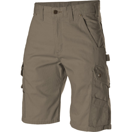 Knives, nails, screws, truck beds, scrub brush, rocks, and mud all wreak havoc on your clothing, so the Carhartt Men's Ripstop Cargo Work Short offers durable comfort and function when you work and play hard. - $44.95
