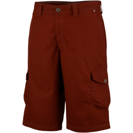 Be a pioneer of your own growth as an adventurer with the Columbia Men's Pioneer Peak Cargo Short. Rugged cotton makes the Pioneer Peak a great choice for your local adventures or cross-cultural tours, but it's the added sun protection and ample pockets that make this short a true pioneer of your outdoor wardrobe. - $19.98