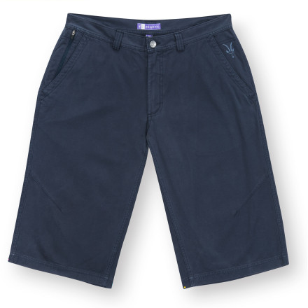 Surf After a day of chasing bad guys around Oahu (or, more likely, surfing), pull on your Ibex Mens Five-O Long Shorts and a comfy shirt, and join your friends for a beach bonfire. These relaxed-fit shorts hit above your calves and have knee darts so you can comfortably crouch in order to build the fire. - $89.95