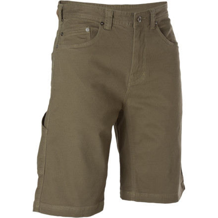 Camp and Hike Whether you're heading out for a day hike or tinkering with your toys in the garage, the prAna Men's Bronson Short keeps it casual. Cotton fabric dials in all-day comfort, while triple-stitching and a fully gusseted inseam ensure these classic shorts are with you for the long haul. - $59.95