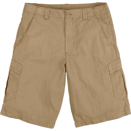 Camp and Hike When hunger pangs strike, pull out an energy bar from the cargo pocket of The North Face Mens Synkros Delta Short and devour it. With these shorts, you have more than enough pockets to stash your snacks and even an interior-envelope-security pocket for all your Benjamins. A few threatening clouds or the beating sun are no cause for worry thanks to the quick-drying and UPF 30 fabric. - $29.98