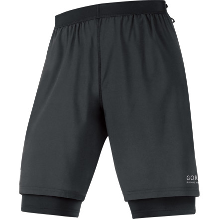 Fitness Because there's no such thing as a 'quick run' to you, there's the GORE RUNNING WEAR Men's X-Running 2.0 Short. The two-in-one design features a compression inner short and lightweight, relaxed-fit outer short that help you get the performance you need with the look you want. - $79.95