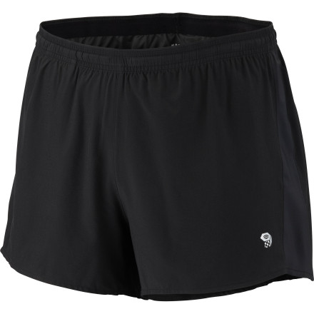 Fitness Every ounce matters on race day, and the Mountain Hardwear Men's Ultrarefuel short weighs a feathery four ounces so you can sprint like a cheetah and bag the hole shot out of the crowd. Once the trail turns truly rugged, stretch fabric helps you cruise through technical terrain uninhibited. - $24.98