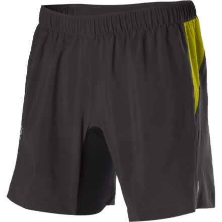 Fitness Hate wearing chafy underwear under your running shorts' No worries, the Salomon XA Series V Short have a stretch inner brief for support and comfort. ActiLite fabric wicks moisture away from your body, while ClimaUV protects your skin from the sun's harmful rays. Lycra Power briefs provide controlled compression and eliminate thigh-rub on long runs. - $41.97