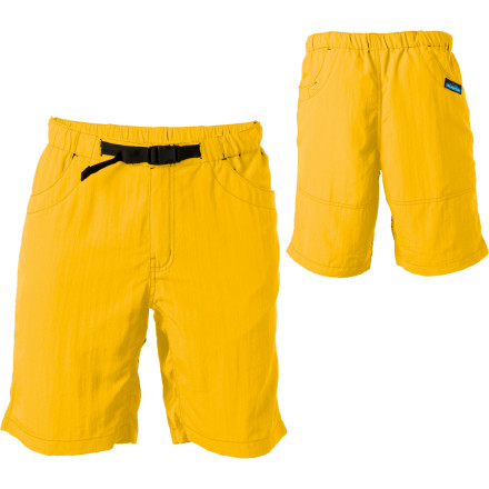 Fitness Paddling has a tendency to wreck your shorts. Rather than trashing your trunks at the end of every adventure, snag the Kavu Big Eddy Shorts. DWR-coated nylon resist sand, salt, sun, and mildew and can handle more than a handful of float trips. These river shorts dry quickly at the take-out and look presentable in town. Kavu designed them with an elastic waistband that won't dig into your gut. - $27.48