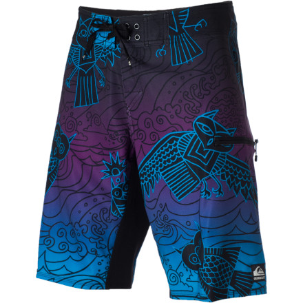 Surf The Cyphe Pueo Board Shorts are great for day-long beach parties when you want to go from surfing, to drinking, and back to surfing. - $39.00