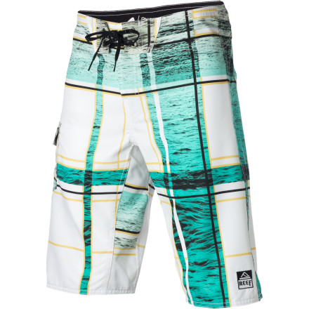 Surf Feeling a little 'full-bodied' after a long winter' Well, don the stretchy, quick-drying Reef Men's Salt Ponds Board Short, run straight for the water, and start paddling a surf or stand-up paddleboard. - $51.96