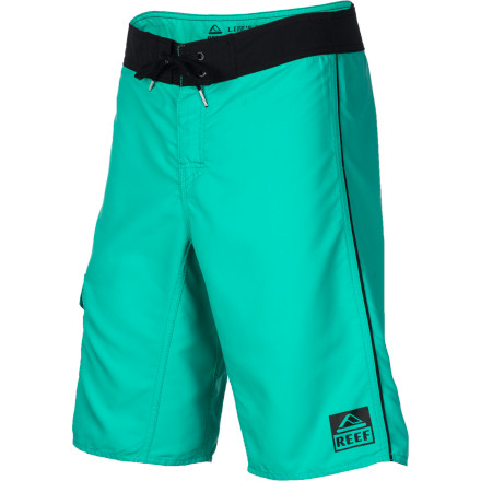Surf Made from super-soft polyester microfiber, the Reef Men's Caribbean Queen Board Short provides the next-to-skin softness required for long days in the surf. The standard fit stops just below the knee, and a side patch pocket holds your wax. - $27.27