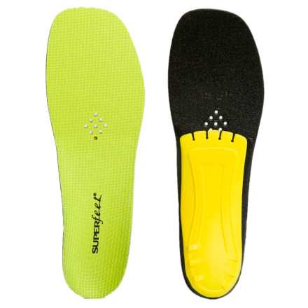 Superfeet may not have built the space shuttle, but a mastery of the technology behind sport science was necessary for building the Trim-To-Fit Yellow Insole. A wider forefoot ensures maximum coverage and comfort in any raised-heel footwear. - $39.95