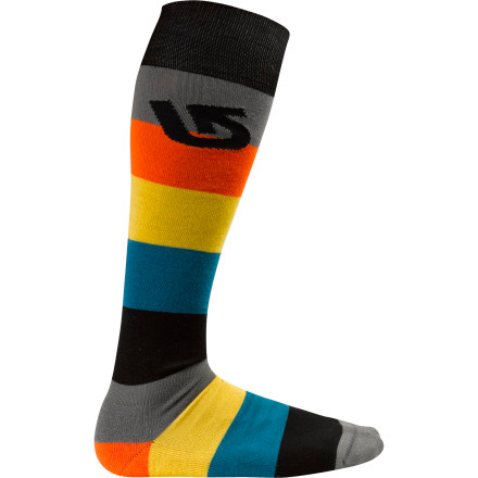 Snowboard The Burton Tailgate Sock gives your all-around comfort for long days on the mountain. This sock doesn't bother with fancy-schmancy paneled construction; instead, it focuses on clean design and materials that will keep your feet dry even when you're working up a sweat. - $11.94